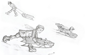 sk-50-sledding-downhill